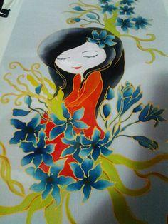 #silkpaint #silkpainting #beauty #fairy