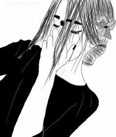 desenho, menina, grunge, cabelo, moderno, indie, esboço, esboços