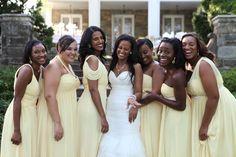 Soft Yellow Bridesmaids Dresses