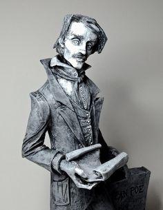 Edgar Allan Poe Statue by Dellamorte & Co. based on the artwork of @Abigail_Larson .