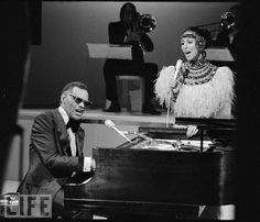 Ray Charles sings with Cher, 1975. From our gallery Ray Charles: the Genius in Action