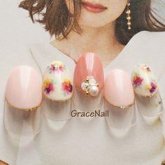#ジェルネイル #オールシーズン #春ネイル #フラワー #ピンク #春 ネイルデザインを探すならネイル数No.1のネイルブック