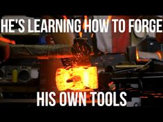 """Day 1 of Steve's tool forging class, playing """"guess the material"""" and enjoying the more-temperate weather! LEARN ONLINE: http://beginblacksmithing.com/ BUY T..."""