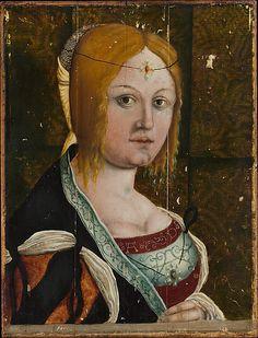 Portrait of an Italian Woman  PÉRDIDA DE COLOR DONDE SE APRECIA LA IMPRIMACION CLARA