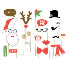 Christmas + Holiday Photo Booth Props