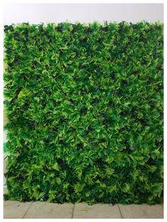 Muro inglês com papel de seda! Parece de verdade!! 3 tons de verde