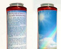 Pet Memorial, Devotion Candle, Rainbow Bridge, Pet Loss, Pet Sympathy, Pet Loss Gift