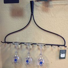 Display your wine glasses in a unique and dramatic way using this metal rake head. This rake can be easily mounted using a coupe of nails. The rake can also be used to hold jewelry, scarves or anythin Texas Wineries, Wine Gift Baskets, Wine Glass Holder, Wine Decor, Wine Stoppers, Finding A House, Wine Gifts, Grape Vines, Wines