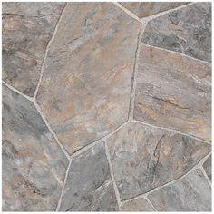 Vinyl Floor Roll | RONA | VersaFloor sheet, 12 ft. wide. Made of fiberglass. Sold by the square yard. Carbon. $16.87 psyard