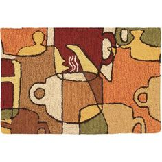 """Andover Mills Pelham Coffee Collage Novelty Rug Rug Size: 1'10"""" x 2'10"""""""