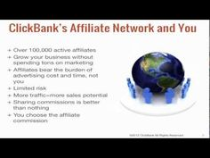 ClickBank Vendor Training: Leverage the Affiliate Network >  Published on Dec 7, 2012    http://clickbankwebinar.com/training/...    In this video you'll learn how to leverage ClickBank's affiliate network as a cost effective traffic channel all while earning extra profits.    This is part of ClickBank's Vendor Training series, which teaches ClickBank vendors the strategies and techniques to become a successful infopreneur.