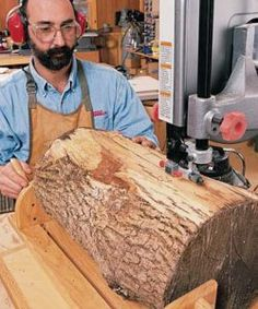 Easy Woodworking Projects Bandsaw Resawing - Popular Woodworking Magazine - Want to get useful lumber from a gorgeous piece of wood in your firewood pile. The technique that makes this possible is resawing? Woodworking Guide, Beginner Woodworking Projects, Woodworking Patterns, Woodworking Magazine, Popular Woodworking, Woodworking Crafts, Woodworking Furniture, Woodworking Classes, Woodworking Quotes