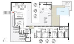 Casa-térrea-moderna-ambientes-integrados-ampla-arejada-arquitetura-moderna - planta baixa