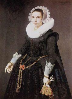 Nicolaes Eliasz Pickenoy, Portrait of a woman, 1628 - Sotheby's London 1975