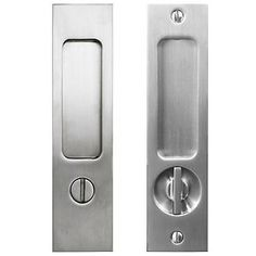 <ul> <li> This complete pocket door privacy mortise set includes; 1 side plate with a thumb turn, 1 side plate with an emergency release turn piece, mortise lock body with built-in edge pull, faceplate, strike plate and all necessary mounting hardware.</li> <li> A privacy set is typically used for bathrooms or bedrooms, it can be closed from inside and in case of emergency it can be opened from the outside using a screw driver or coin.</li> <&#...
