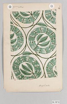Foliage design printed on silk - Wiener Werkstaette (Vienna Workshop)