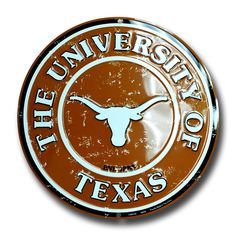"University of Texas at Austin Longhorns 12/"" Xing Crossing Metal Sign Embossed"
