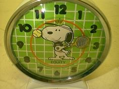 Snoopy Tennis Vintage Clock
