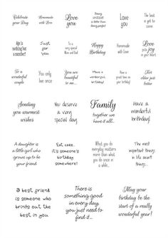 Sentiments - Square Sayings for all occasions. Scrapbook Quotes, Scrapbook Titles, Scrapbook Cards, Scrapbooking, Birthday Verses For Cards, Birthday Quotes, Birthday Cards, Birthday Card Messages, Birthday Wishes