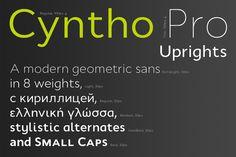 Cyntho Pro Uprights by Mint Type on Creative Market