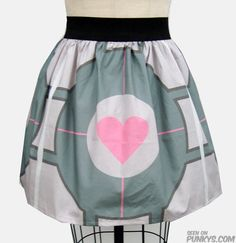Cool fashion: Very cool Portal video game skirt