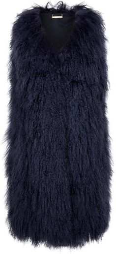Mongolia Fur Gilet- put sleeves on it and make it red and I'll want one!!!