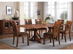 LOVE! Bradford 7-pc. Dining Set - Steinhafels $1,469