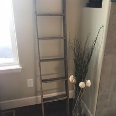 RusticDecor 5 ft Wood Rustic Decorative Straight Ladder & Reviews | Wayfair