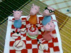 Familia peppa pig, picnic