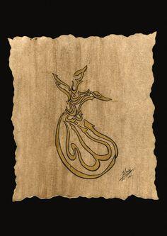 Caligrafia de derviche - Decoración Árabe  http://www.decoracion-arabe.es/proddetail.asp?prod=miniaturas05