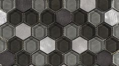 New hexagonal mosaics for the Fusion collection, by L'Antic Colonial #Porcelanosa #coverings