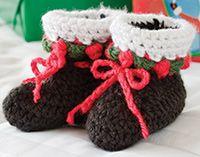 Baby Santa Hat & Booties ~ free patterns