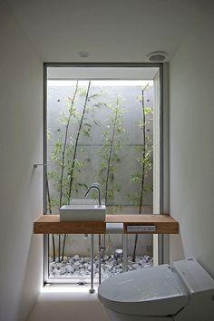 Inspiring Small Japanese Garden Design Ideas – Decorating Ideas - Home Decor Ideas and Tips Patio Interior, Bathroom Interior, Interior And Exterior, Interior Design, Interior Plants, Interior Modern, Small Japanese Garden, Japanese Garden Design, Japanese Style House