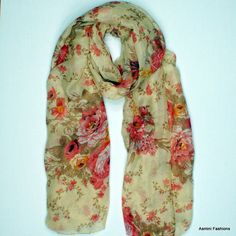 Hillary Floral Scarf