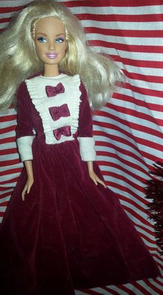 Christmas Dress and Barbie doll #Barbie #DollswithClothingAccessories