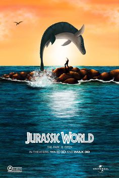 Life Will Find a Way in This Imaginative and Hilarious Jurassic Park/World Fan Art   moviepilot.com Jurassic World Poster, Jurassic World Park, Jurassic World Wallpaper, Jurassic World Movie, Jurassic Park Series, Jurassic World Fallen Kingdom, Science Fiction, Jurrassic Park, Jeux Xbox One