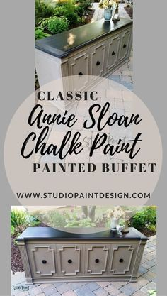 Painted and Refinished Buffet Sideboard or Media Console Annie Sloan Chalk Paint Coco and GF Java Gel Stain DIY Ideas Inspiration #paintedfurniture  #paintedbuffet #paintedsideboard #DIY #furniturepaintideas #javagelstain #uniquefurniture #farmhouse #anni