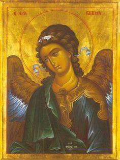 Orthodox byzantine icon of Archangel Gabriel (1) – orthodoxmonasteryicons.com