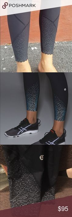 "LULULEMON worn ONCE ""tight stuff tight"" Perfect condition Lulu leggings! SIZE 6, just don't fit me! Reflective dots at the bottom of each pant leg, drawstring up top, literally worn once. Price NEGOTIABLE lululemon athletica Pants Leggings"