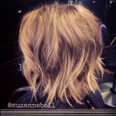 medium layered/shattered bob More