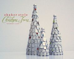 DIY Shaker Style Christmas Trees - Landee See Landee Do