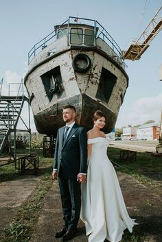 Urban Industrial Wedding in Lithuania