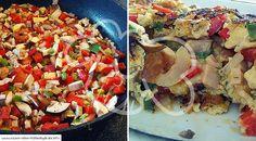 Low Carb Rezept für eine Low-Carb Gemüse-Frittata. Wenig Kohlenhydrate und einfach zum Nachkochen. Super für Diät/zum Abnehmen.