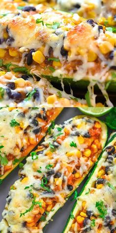 Tasty Vegetarian Recipes, Vegetable Recipes, Healthy Dinner Recipes, Mexican Food Recipes, Cooking Recipes, Vegetarian Tacos, Healthy Dishes, Mexican Dishes, Zucchini Boat Recipes