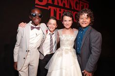 LOOK AT THEM. LOOK AT THEIR LITTLE FACES. (The cast of Stranger Things)