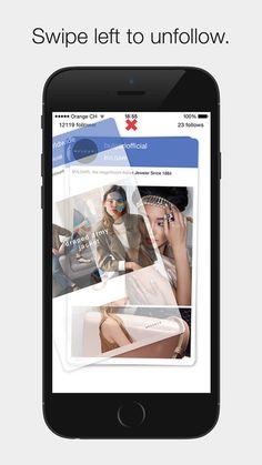 Unfollow on #Instagram #App by Samuel Mueller - swipe to Unfollow #iOS