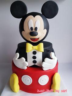 Mickey Mouse - Cake by Meri Pastel Mickey, Mickey And Minnie Cake, Bolo Mickey, Fiesta Mickey Mouse, Mickey Cakes, Mickey Mouse Birthday Decorations, Number Birthday Cakes, Mickey Mouse Clubhouse Party, Mickey Mouse Clubhouse Birthday