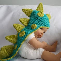 Hey, I found this really awesome Etsy listing at http://www.etsy.com/listing/122587714/dinosaur-baby-hat-with-tail-and-horns