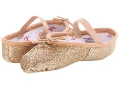 Bloch Kids Glitterdust Ballet Slipper (Toddler/Youth) Gold - Zappos.com Free Shipping BOTH Ways $20