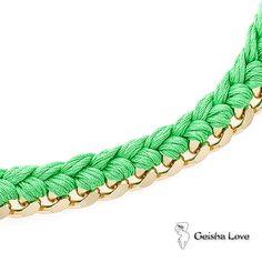 FIRST BRACELET GOLD, GREEN COTTON SPUN